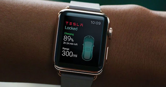 Tesla app for Apple Watch could let you control a car from your wrist