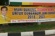 Spanduk Dukungan Setnov Dinilai Rugikan Bakal Cawagub Pendamping Ridwan Kamil