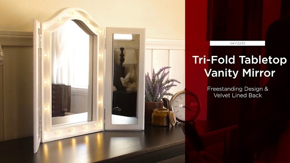 Latest Tri Fold Vanity Mirror With Lighted