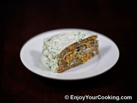 Layered Liver Cake Recipe   My Homemade Food Recipes