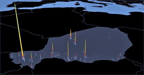 Puntos de luz asociados a la densidad de población en Níger. | Science