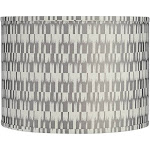Gray and Cream Drum Lamp Shade 15x15x11 (Spider) - Style # 78D02
