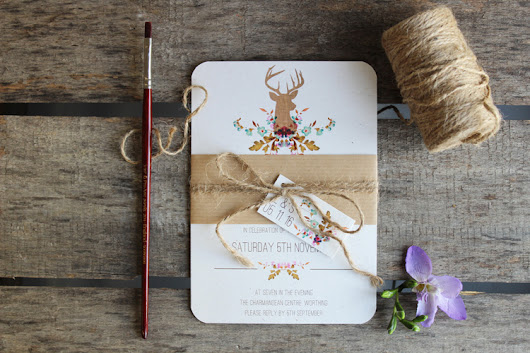 Ivy Ellen's New Floral Stag Wedding Stationery - FaunaIvy Ellen Wedding Invitations « Ivy Ellen Luxury Wedding Stationery  | Luxury Wedding Invitations