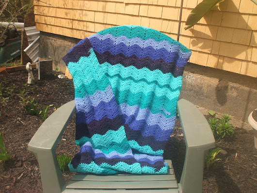 Soft Waves Twin Afghan