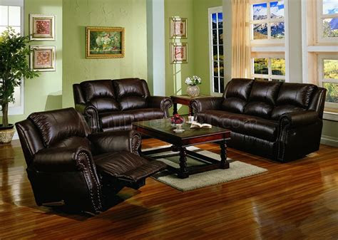 dark chocolate brown bonded leather living room wrecliners