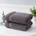 Charisma Soft 100% Hygro Cotton 2-Piece Bath Towel Set - Purple