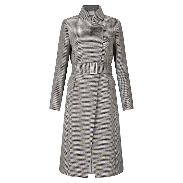 Buy Grace & Oliver Harriet Wool Tweed Coat, Grey, 6 Online at johnlewis.com