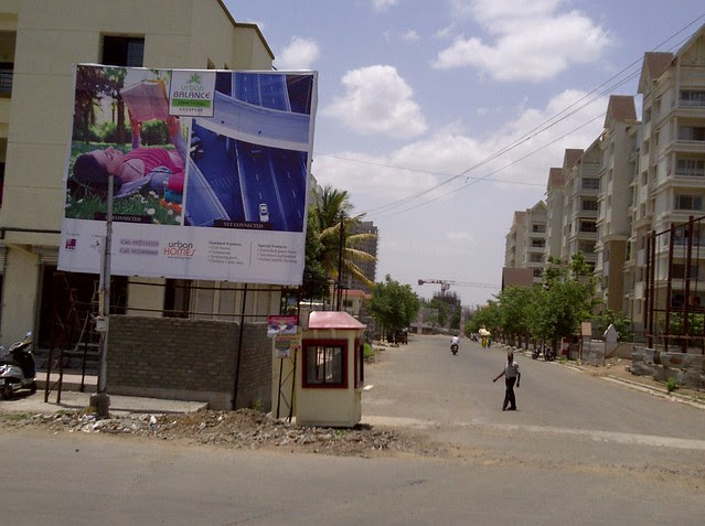 Hoarding of Urban Balance - 3 BHK Flats - near Kumar Picasso - Baburao Shankarrao Tupe Road (D P Road) Hadapsar  - Visit Livogue - 1 BHK, 1.5 BHK & 2 BHK Flats at Malwadi Hadapsar, Pune 411028