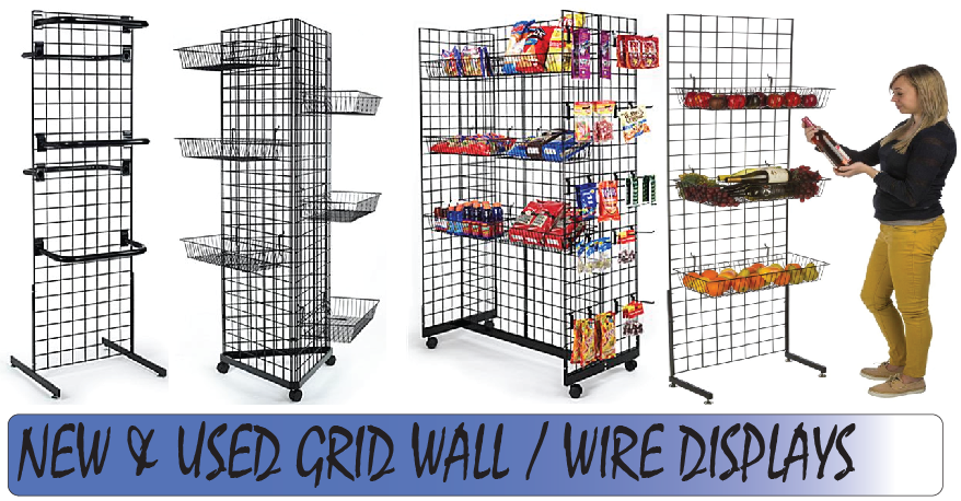 Grid Wall Panel Wire Displays Newused Priceless Store Fixtures