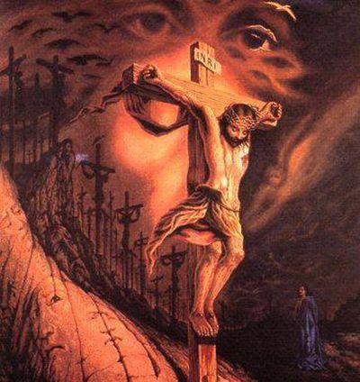 Octavio Ocampo Jesus Crucifixion illusion