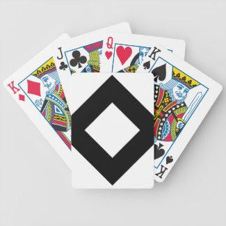 White and Black Diamond Pattern Bicycle Card Deck