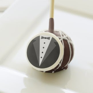 Groom's Tuxedo Wedding Favor Cake Pops