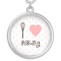 I heart Baking Necklace