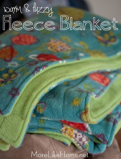 More Like Home Fleece Blanket Tutorial