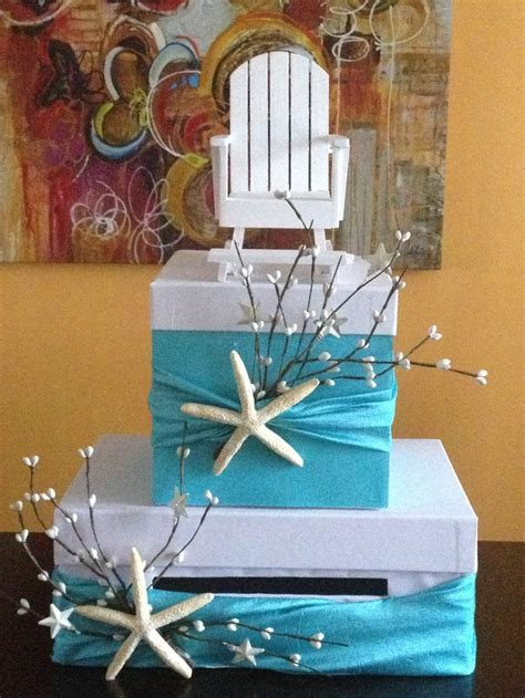 Beach/ cape cod themed wedding card/money holder box