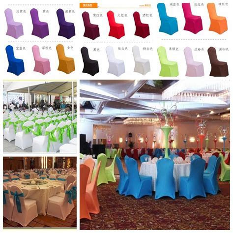 Universal White Polyester Spandex Wedding Chair Covers