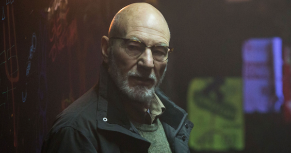 "Patrick Stewart is the bad guy in ""Green Room"""