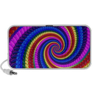 Rainbow Fractal Art Swirl Pattern Iphone Speaker
