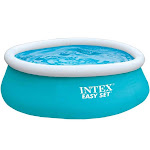 Intex 6ft x 20in Easy Set Inflatable Above Ground Swimming Pool, Blue (2 Pack) by VM Express
