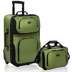 U.S. Traveler Us5600E 2-Piece Expandable Travel Luggage Set In Green