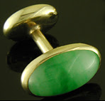 Carrington jade cufflinks. (J9462)