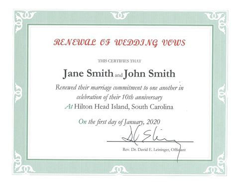 Vow Renewal Officiant in Hilton Head SC   A Wedding in