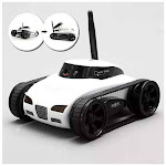 All Mighty TOY TANK with Wireless Camera and Remote Control by APP - Color: Silver