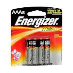 Energizer Max Alkaline Long Lasting Batteries, Aaa - 8 Ea/Pack