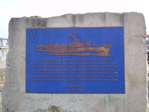 Poole, UK Coast Guard plaque