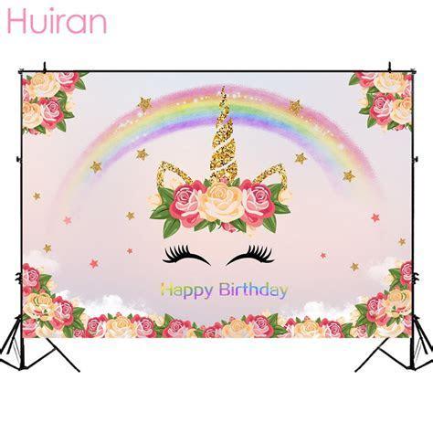 Huiran Unicorn Wallpaper Unicron Party Backdrop Home Decor