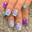 Blue and Purple Trend Nails!