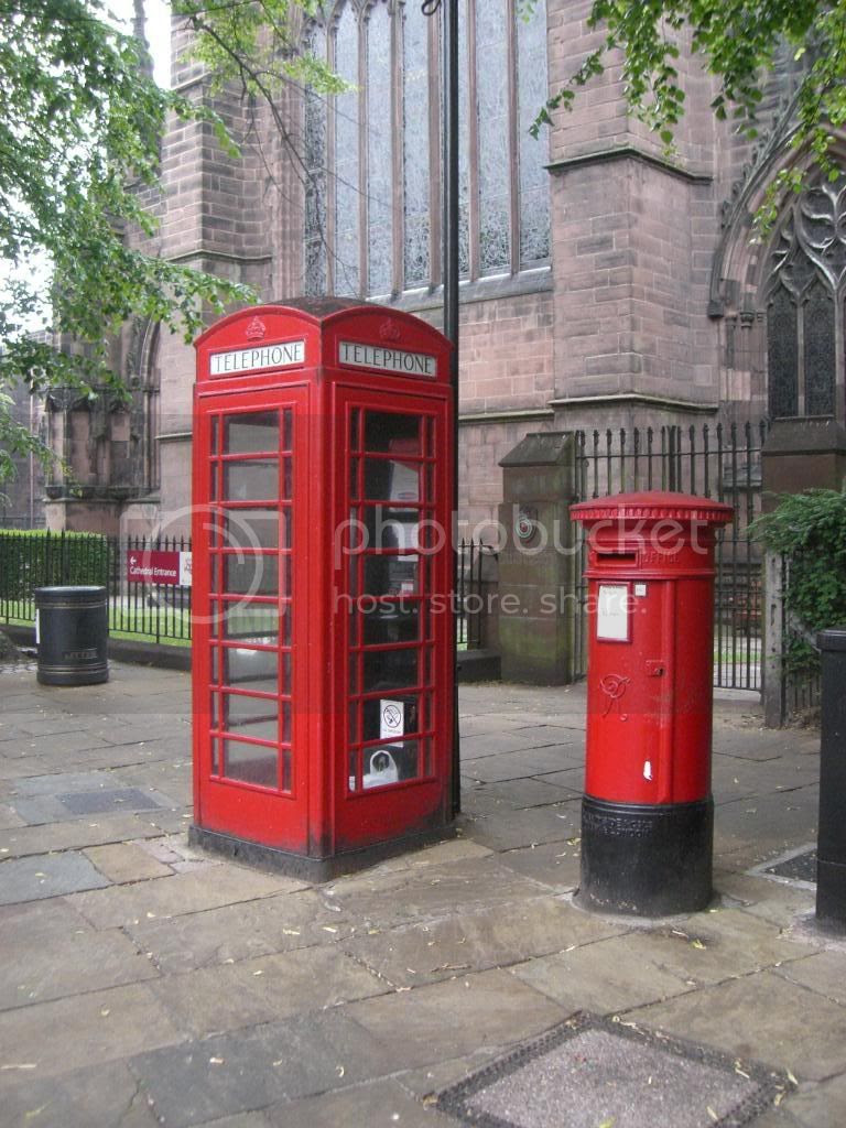 Phone booth and mailbox in England Pictures, Images and Photos