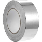 Aluminum Foil Tape for HVAC Ducts Sealing , Insulation Equipment Cable Repair Adhesive Tape, 2-Inch , All Purpose Weather Resistant, Seal Packaging,