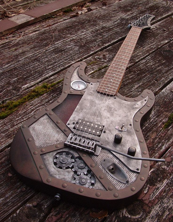 Steampunk Copper Colour LED Guitar  http://www.vintageandrare.com/category/Guitars-51