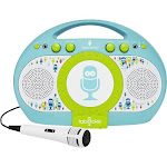 Singing Machine - Tabeoke Portable Bluetooth Karaoke System - Blue/Green