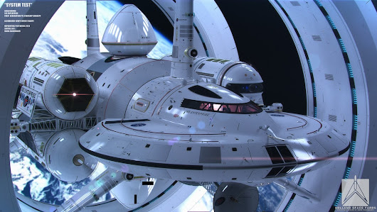 This is the amazing design for NASA's Star Trek-style space ship, the IXS Enterprise