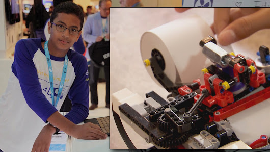 13-year-old builds a printer for the blind with Lego blocks
