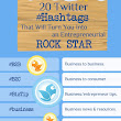 Popular Twitter Hashtags For Entrepreneurial Rock Stars [Infographic]