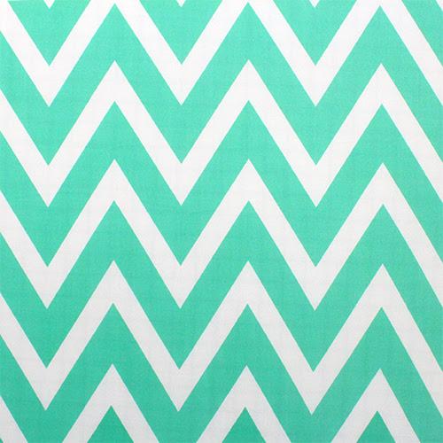 Big Tiffany Blue Natural White Chevron Jersey ITY Knit Fabric