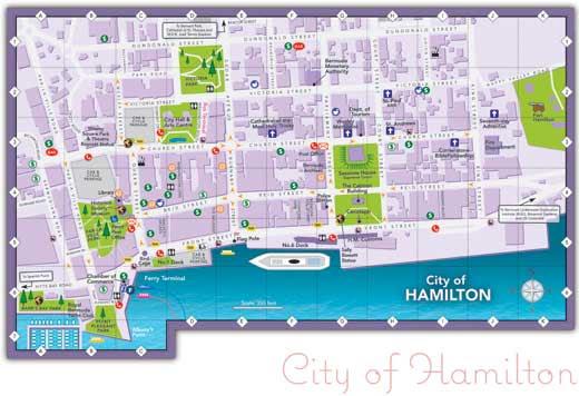 Hamilton Map And Hamilton Satellite Image