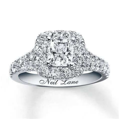 Neil Lane Engagement Ring 2 1/6 ct tw Diamonds 14K White