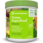 Amazing Grass Green Superfood Energy Drink Powder, Lemon Lime - 7.4 oz canister