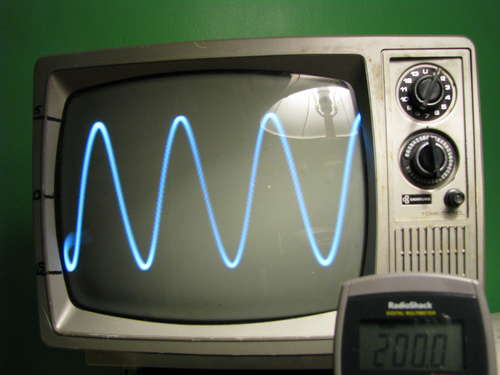 Turn Your Old TV Into An Oscilloscope And Try To Avoid Death