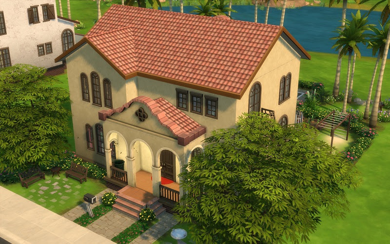 Spanish Style House Sims 4 Best Home Style Inspiration