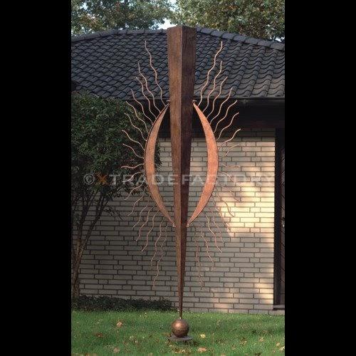 Gartendeko rost bewertungen riesige metall skulptur for Metall sonne gartendeko