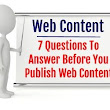 Web Content Marketing & On-Page SEO: 7 Questions to Answer Before Publication
