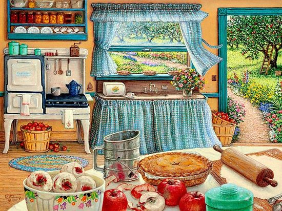 Apple Pie Harvest by Janet Kruskamp. ❤❦♪♫