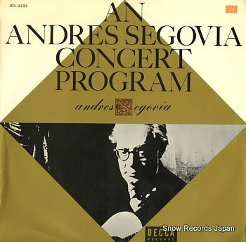 SEGOVIA, ANDRES concert program