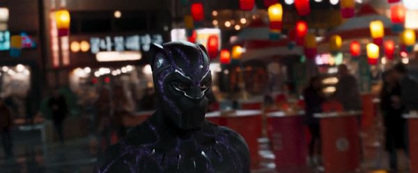 T'Challa is ready to fight in BLACK PANTHER.