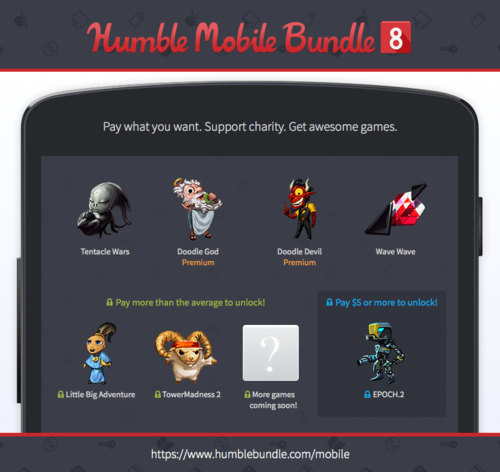 Humble Mobile Bundle 8 is full of hyperactivity HEY GET DOWN FROM THERE